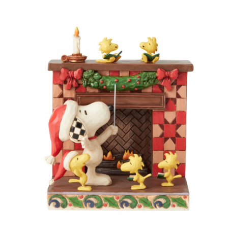 Peanuts | Snoopy at Fireplace | Jim Shore