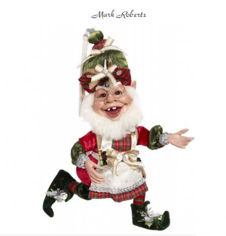 GIFT WRAPPING ELF, MED 19''   MARK ROBERTS