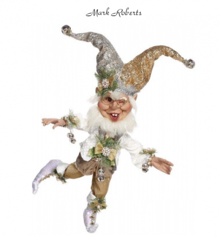 SILVER BELLS ELF,MED 18'' | MARK ROBERTS
