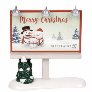 Village Accessories | Merry Christmas Billboard | Department 56