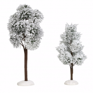 Village Accessories | Snowy Jack Pine Trees | Department 56