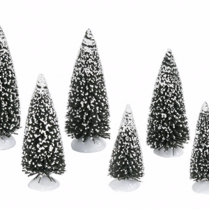 Village Accessories | Frosted Pine Grove, Set of 6 | Department 56