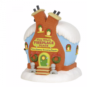 Grinch Village Series | Flue Who's Fireplace Place | Department 56