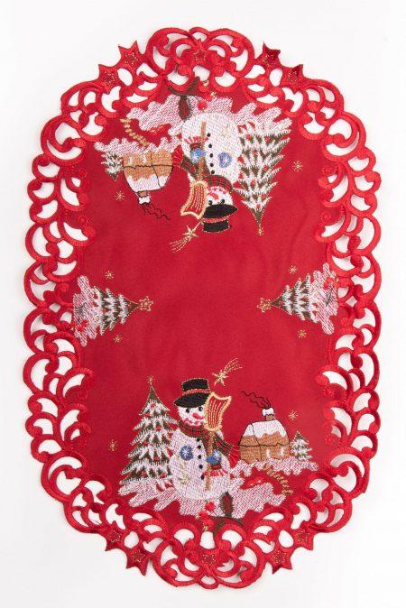 Destination Christmas|Embroidered Village Linen