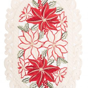 Destination Christmas|Embroidered Flowers Linen