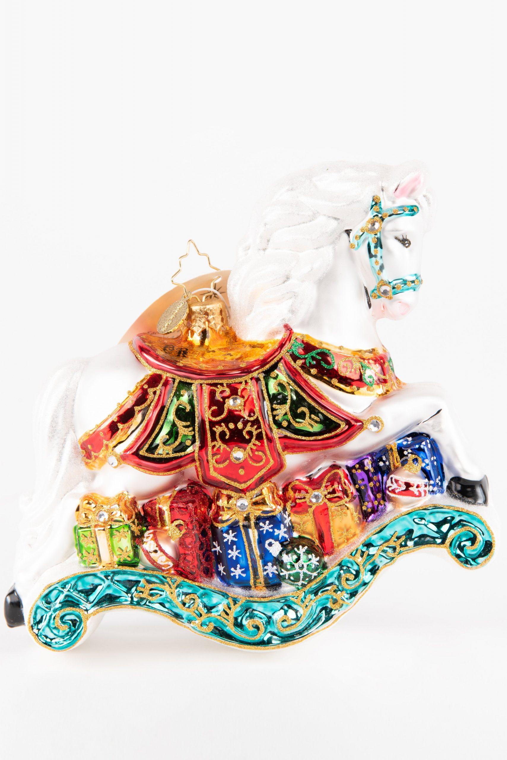 Christopher Radko Rocking Horse Ornament