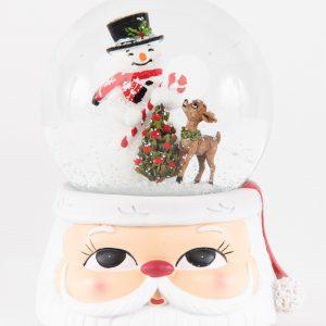 Glitterdome|Snowman with Santa Snowball