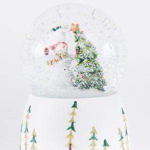 Glitterdome|Snowman with Tree Ornament
