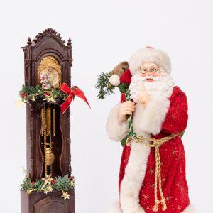 Kurt S. Adler|Santa and Clock
