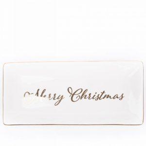Burton+burton|Merry Christmas Plate